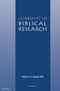 Currents in biblical research cover
