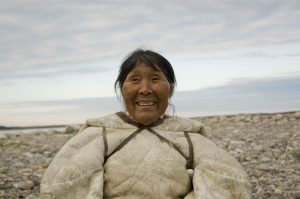 Portrtait of an Inuit woman smiling
