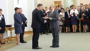 Gregory Jerkiewicz receiving the title of Professor of Chemical Sciences for Life