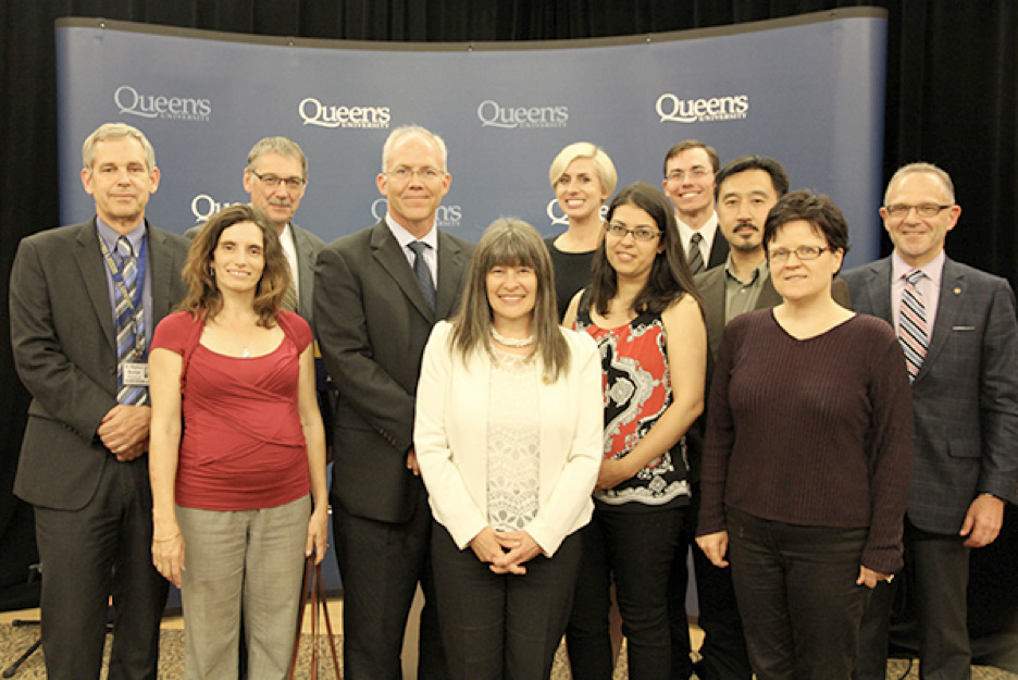 Kingston and the Islands MPP Sophie Kiwala was on campus June 11 to announce more than $16 million in provincial government funding for Queen's researchers.