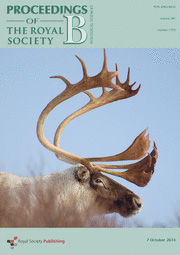 Proceedings of the Royal Society B - Issue 1792 cover