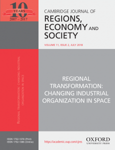 Regions, economy and Society cover