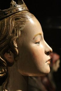 Face of a Renaissance Polychrome Sculpture - Tuscany