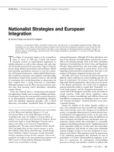 nationalist strategies and european integration